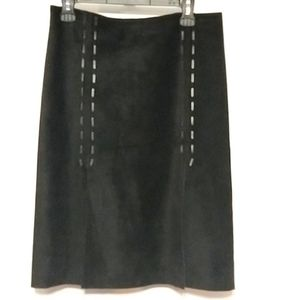 kenneth Cole new york Black 100% Suede Skirt